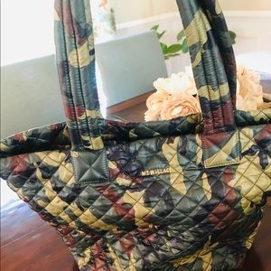 MZ Wallace medium camo green metro tote